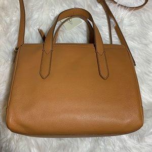 Fossil Hailey leather satchel tan